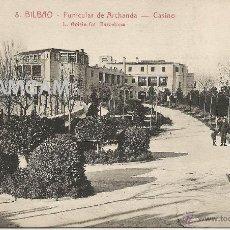 Fotografía antigua: BILBAO BILBO FUNICULAR DE ARCHANDA ARTXANDA CASINO AÑOS 20 - (REF A113) POSTAL. Lote 51070549