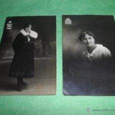 Fotografía antigua: RARO LOTE FOTO-POSTAL FOGRAFIA ELEGANTES SEÑORITAS PHOTO-ART HOJAS SALON PRADERA SANTANDER 1912. Lote 51190893