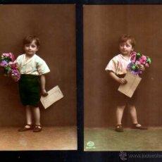 Fotografía antigua: 2 POSTALES FOTOGRÁFICAS .NIÑO. CIRCULADA . Lote 51201507