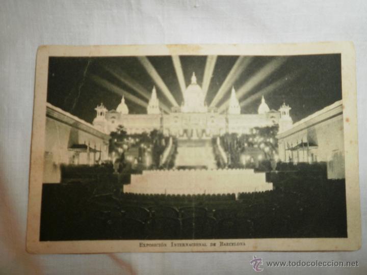 ANTIGUA POSTAL EXPOSICION INTERNACIONAL BARCELONA 1929 (Fotografía Antigua - Tarjeta Postal)