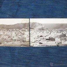 Fotografía antigua: FOTOGRAFIA POSTAL PANORAMICA DE ALHUCEMAS. AÑOS 20. Lote 51701461