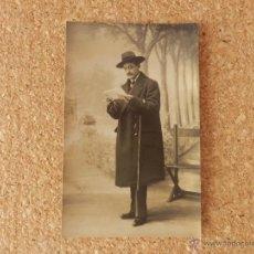 Fotografía antigua: POSTAL FOTOGRAFIA CARMELITAS SALAMANCA CIRCULADA 1913 EXCELENTE CALIGRAFIA EN TEXTO. Lote 51705949