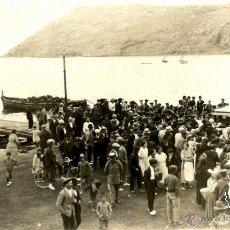 Fotografía antigua: PALMA DE MALLORCA DETALLE FOTO EN UNA CALA FECHADA 1925. Lote 51734248