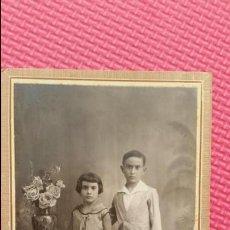 Fotografia antica: ANTIGUA FOTOGRAFIA TARJETA POSTAL PRINCIPIO SIGLO XX RETRATO DECORADO NIÑOS ESTUDIO ALICANTE. Lote 51972462