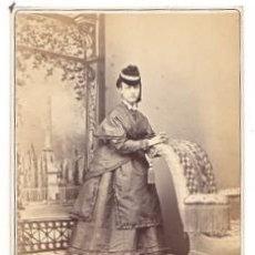 Fotografía antigua: TARGETA AMERICANA. EN ALBUMINA. FOTOGRAFO E. OTERO. MADRID. CIRCA 1890. Lote 52346794