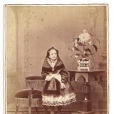 Fotografía antigua: TARGETA AMERICANA. FOTOGRAFO E. OTERO. MADRID. CIRCA 1890. Lote 52347334