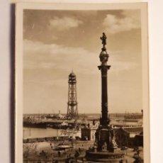 Fotografía antigua: ANTIGUA TARJETA POSTAL MONUMENTO A COLON BARCELONA. Lote 52462309