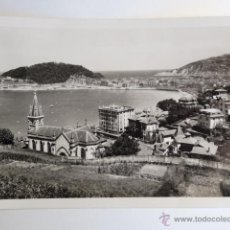 Fotografía antigua: TARJETA POSTAL SAN SEBASTIAN VISTA DESDE MIRACONCHA. Lote 111792598