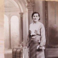 Fotografía antigua: FOTOGRAFIA DE ESTUDIO, MUJER, ALCOY, STUDI MODERN, MATARREDONA, 1920'S?. Lote 52489971