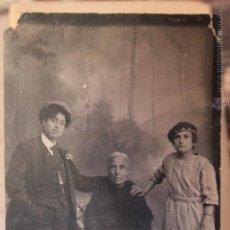Fotografía antigua: ANTIGUA FOTOGRAFIA, ABUELA CON NIETOS? FOTO DE ESTUDIO, SANCHIS, ALCOY. Lote 52491035