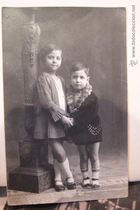 ANTIGUA FOTOGRAFIA, NIÑOS, ALCOY, FOTO DE ESTUDIO, SANCHIS, AÑOS 20 (Fotografía Antigua - Tarjeta Postal)