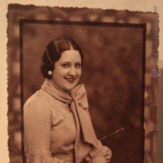 Fotografía antigua: ANTIGUA FOTOGRAFIA DE ESTUDIO, MUJER POSANDO, FOTOGRAFO BANÚS, BARCELONA, 1920'S. Lote 52492233