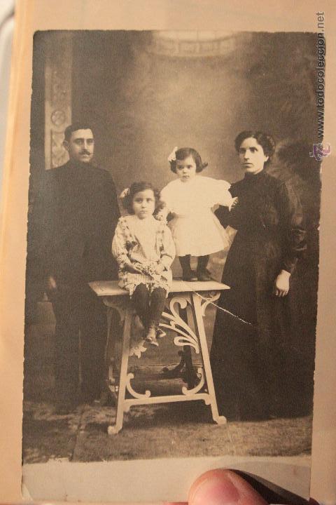 ANTIGUA FOTOGRAFIA FAMILIAR, S. XIX, (Fotografía Antigua - Tarjeta Postal)