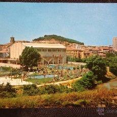 Fotografía antigua: TAFALLA - NAVARRA - VISTA PARCIAL Y PISCINA. Lote 52674795