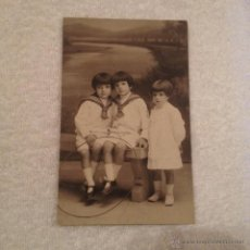 Fotografía antigua: ANTIGUA FOTO DE NIÑOS . FOTOGRAFIA R. SANTONJA. Lote 52815571
