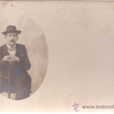 Fotografía antigua: POSTAL SEÑOR ELEGANTE SENTADO / SIN USAR. Lote 53012894