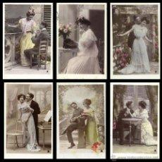 Fotografía antigua: LOTE DE 6 ANTIGUAS POSTALES FOTOGRÁFICAS CIRCULADAS 1908-09. VBC .ED. ETOILE, PARÍS . VINTAGE POSTAL. Lote 53124442