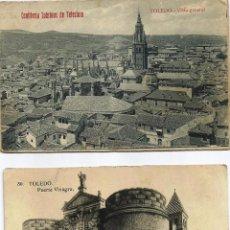 Fotografía antigua: LOTE DE DOS TARJETAS FOTOGRAFÍAS DE TOLEDO. AÑOS 40?. Lote 53281013