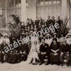 Fotografía antigua: BADAJOZ,1925, BODA DE LA HIJA DEL ALCALDE SR.PACHECO,FOT.FRANCISCO OLIVENZA. Lote 53493080