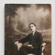 Fotografía antigua: JOSÉ MARÍA LE ESCRIBE UN POEMA A LUCRECIA EN LA POSTAL. 1921. Lote 53559037