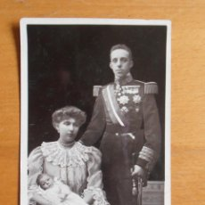 Fotografía antigua: POSTAL FOTOGRAFIA REY ALFONSO XIII, REINA E INFANTE ROTARY PHOTOGRAPHIC SERIES ENGLAND. Lote 54013576