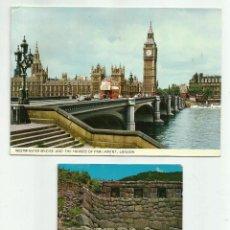 Fotografía antigua: DOS TARJETAS POSTALES DE LONDRES Y CUZCO, CIRCULADAS Y CON SELLOS.. Lote 54083466