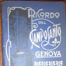 Fotografía antigua: ANTIGUO ALBUM FOTOGRAFICO FOTOGRAFIA FOTO CAMPOSANTO DE GENOVA . CEMENTERIO ARTE FUNEBRE DESPLEGABLE. Lote 54118036