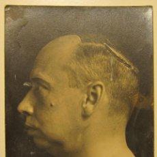 Fotografía antigua: CURIOSA FOTOGRAFIA DE PERFIL DE HOMBRE CON MARCA EN PARTE SUPERIOR CABEZA. 13,50 X 8,50 CM . Lote 54416963