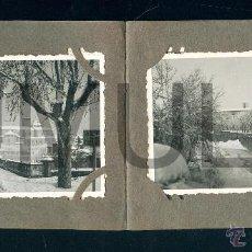 Fotografía antigua: POSTAL 0139 OBSEQUIO FOTOGRAFÍA BACH VICH 8 FOTOS VIC NEVADO NIEVE 8,5 X 6 CM . Lote 54544116