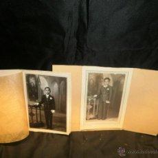 Fotografía antigua: 2 FOTOGRAFIAS ANTIGUAS DE COMUNION. Lote 54745704