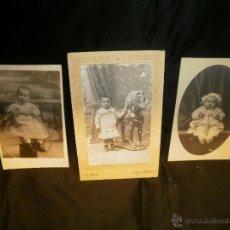 Fotografía antigua: 3 FOTOGRAFIAS ANTIGUAS DE BEBES. Lote 54745980