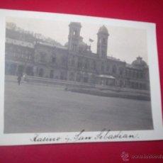 Fotografía antigua: BONITA FOTO SAN SEBASTIAN CASINO 1910 GUIPUZCOA. Lote 54821462
