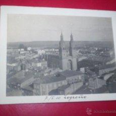 Fotografía antigua: BONITA FOTO LOGROÑO VISTA GENERAL TEJADOS 1910 RIOJA. Lote 54821706