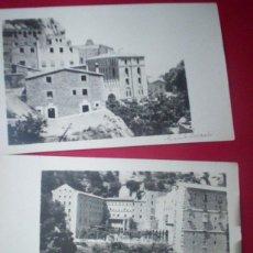 Alte Fotografie - lote 2 fotos postales montserrat turista 1910 barcelona cataluña - 54822575