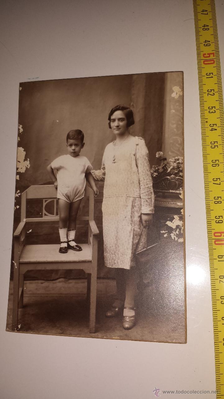 MADRE NIÑO -FOTOGRAFIA ROVIRA (Fotografía Antigua - Tarjeta Postal)