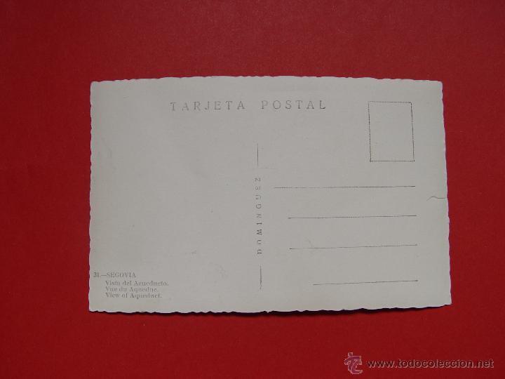 Fotografía antigua: Antigua foto postal SEGOVIA (Acueducto) Domínguez ¡Sin circular! ¡Original! - Foto 2 - 54850874