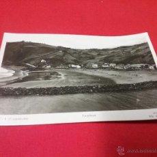 Fotografía antigua: ANTIGUA TARJETA POSTAL - LA PLAYA DE DEVA ( GUIPÚZCOA ) PAÍS VASCO AÑOS 50. Lote 54888303