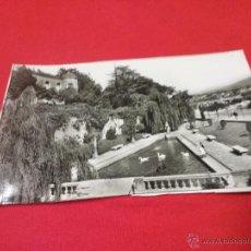Fotografía antigua: ANTIGUA TARJETA POSTAL - PARQUE DE LOS CISNES - FUENTERRABIA - PAÍS VASCO - AÑOS 50. Lote 54888497