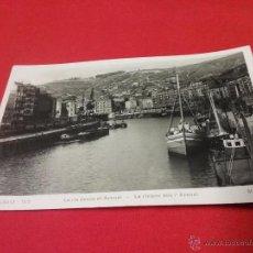 Fotografía antigua: ANTIGUA TARJETA POSTAL - LA RIA DESDE EL ARENAL - BILBAO - PAÍS VASCO - AÑOS 50. Lote 54888562