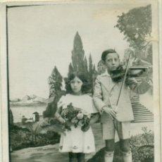 Fotografía antigua: CIUDAD REAL. VALDEPEÑAS. RECUERDO DEL COLEGIO. NIÑO CON VIOLÍN. AÑO 1934.. Lote 54950566