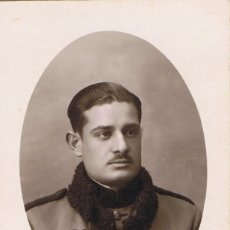 Fotografía antigua: FOTO JOVEN MILITAR. FOTÓGRAFO FLORES.BARCELONA .1927. Lote 55146492