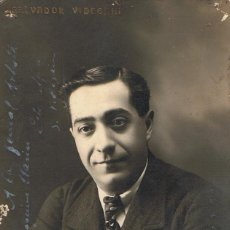 Fotografía antigua: FOTO DEL ARTISTA SALVADOR VIDEGAIN. DEDICADA. 1917. FTO.BAÑOS. BARCELONA. Lote 55147591