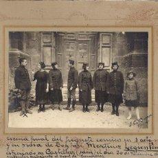 Fotografía antigua: GRUPO ACTORES DE TEATRO 1921. Lote 55608963