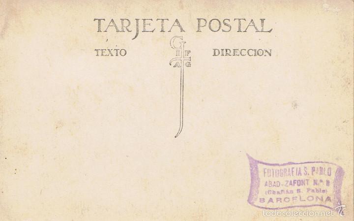 Fotografía antigua: FOTO DE ANGEL GUIMERÀ.CA. 1910-1920. FOTOGRAFIA SAN PABLO. ABAD-ZAFONT Nº 11 BARCELONA - Foto 2 - 55806594