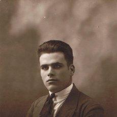 Fotografía antigua: FOTO RETRATO DE JOVEN PEINADO HACIA ATRÁS. CA.1920-1925. FOTÓGRAFO: MILLAN. TARRAGONA. Lote 55890095