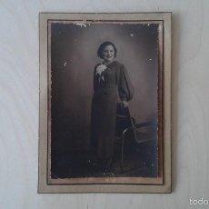 Fotografía antigua: FOTOGRAFÍA ANTIGUA, JOVEN MUJER POSA--ALICANTE ( ESPAÑA ), AÑOS 20. Lote 56012218