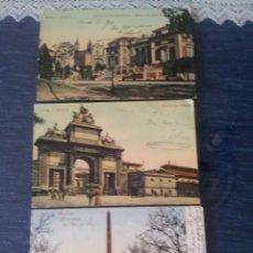 Fotografía antigua: MADRID PRINCIPIOS DE SIGLO. 3 TARJETAS POSTALES. Lote 56161042