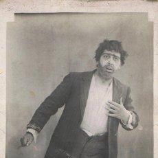 Fotografía antigua: FOTO DE ACTOR DE TEATRO.ESCRITA AL DORSO.FIRMADA ANTONIO CREMADES.CA.1910. SIN AUTORIA FOTOGRAFICA. Lote 56167464