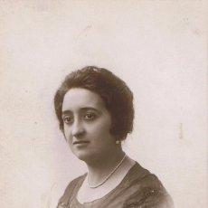 Fotografía antigua: FOTO DE SEÑORITA DE PERFIL. CA.1925. FOTÓGRAFO: BOLDUN. VALENCIA. Lote 56167724