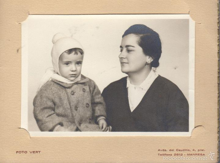 FOTOGRAFIA FOTO MADRE CON HIJO - FOTOGRAFIA VERT MANRESA (Fotografía Antigua - Tarjeta Postal)